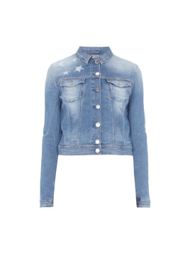Guess Jeansjacke mit Destroyed-Effekten