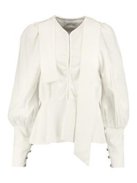 J.W.Anderson Crepe Peplum Blouse - Off-white
