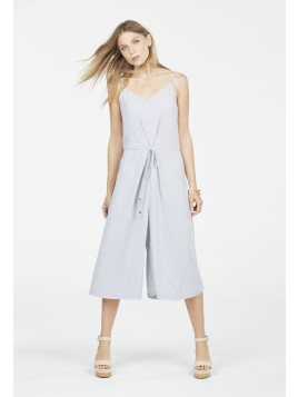 Justfab Justfab Jumpsuit & Rompers Strappy Culotte Jumpsuit Womens Gray Size S