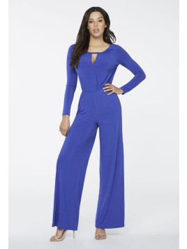 Justfab Front Wrap Jumpsuit