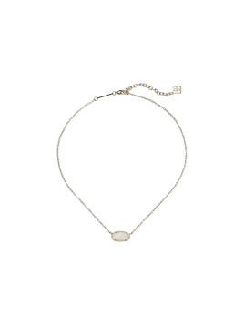 Elisa Silver Pendant Necklace In Slate Gray Cats Eye