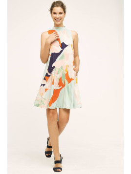 Maeve Les Fauves Silk Dress, Mint