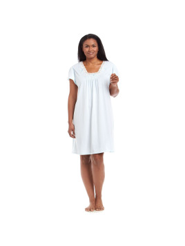 Miss Elaine Plus Size Short Sleeve Night Gown