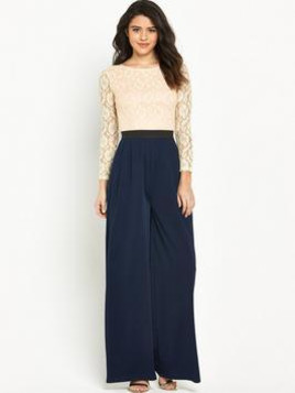 Ra-Re Rare Lace Top Jumpsuit
