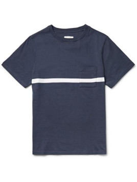Saturdays Surf NYC Randall Striped Cotton-jersey T-shirt - Navy