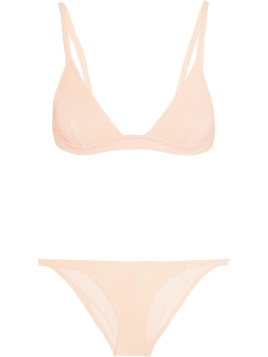 Solid & Striped The Morgan Triangle Bikini, Solid and Striped, Pastel Pink, Womens, Size: XS