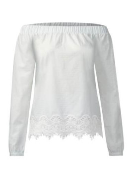 Street One Off-Shoulder Bluse Effie - off white
