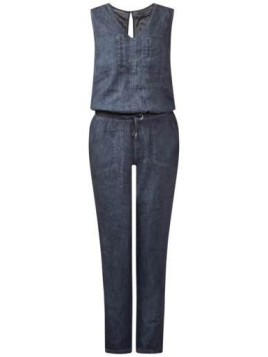 Street One Oilwashed-Jumpsuit Lindsay - night blue