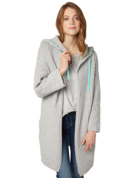 Tom Tailor POLO TEAM Strickjacke uni, Cardigan, Damen, grau