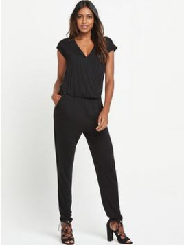 Very V By Very Crossover Front Jersey Jumpsuit
