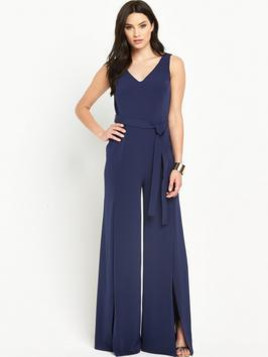 Very V By Very Split Front V-Neck Jumpsuit