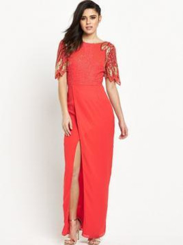 Virgos Lounge Lena Embellished Maxi Dress