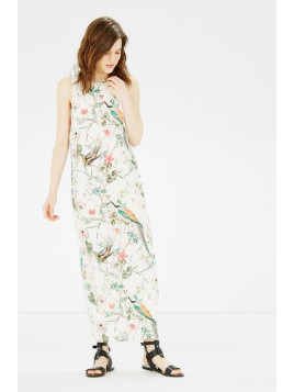Warehouse Bird Column Midi Dress