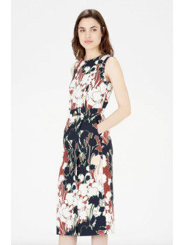 Warehouse Floral Print Wrap Dress