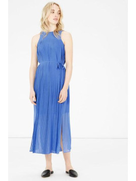 Warehouse Micro Pleat Midi Dress