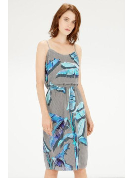Warehouse Palm Print Cami Dress