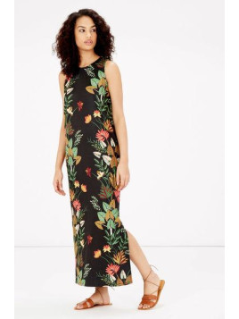 Warehouse Palm Print Jungle Midi Dress