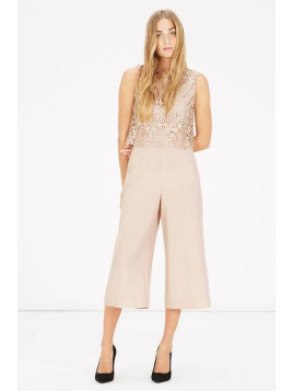 Warehouse Sleeveless Lace Top Jumpsuit