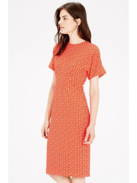 Warehouse Squiggle Print Midi Dress