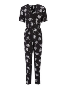 Warehouse Stencil Floral Jumpsuit