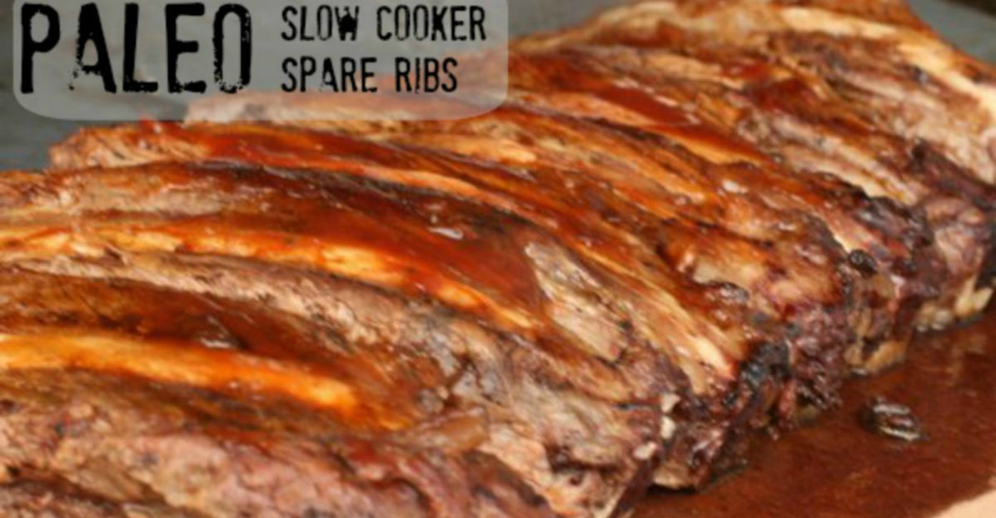 Paleo Slow Cooker Spare Ribs