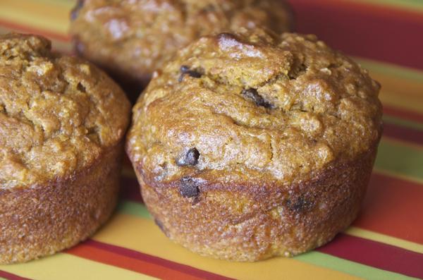 Chocolate Chip Pumpkin Quinoa Muffins