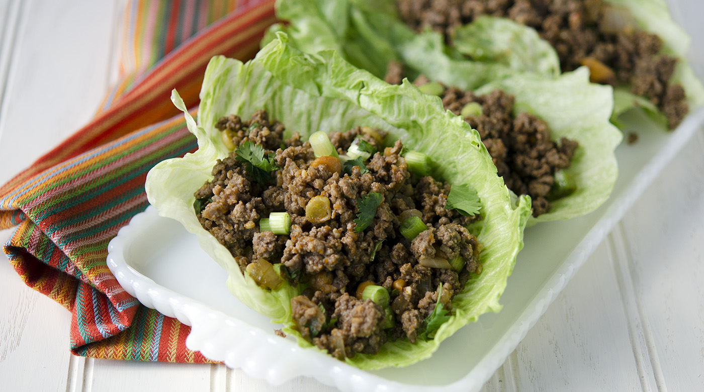 Spicy Beef Lettuce Wraps