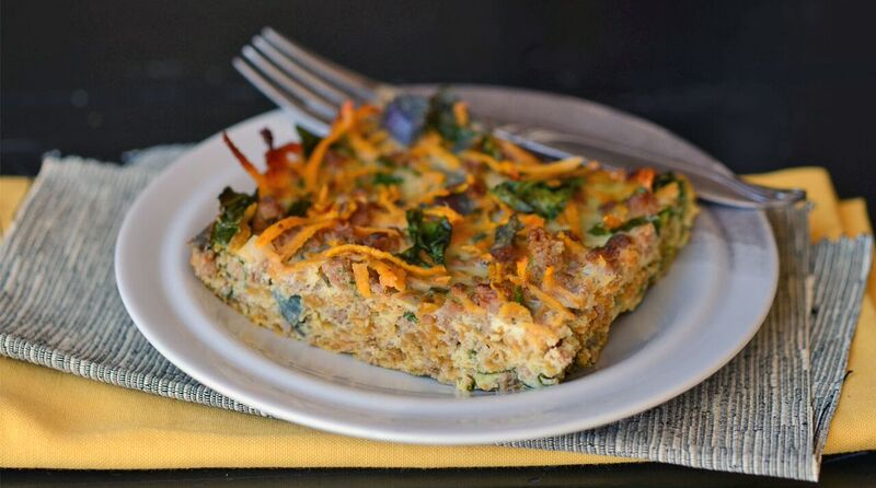 Sweet Potato Sausage Breakfast Casserole