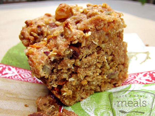 Quinoa Carrot Breakfast Bars | Once A Month Meals