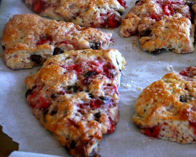 Strawberry Chocolate Chip Scones | Once A Month Meals