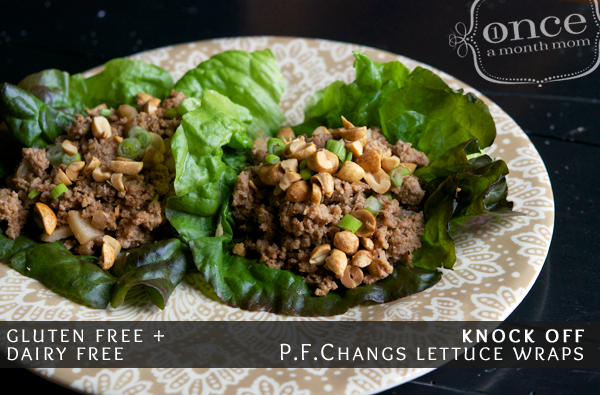 Gluten Free Dairy Free Knock Off PF Changs Chicken Lettuce Wraps