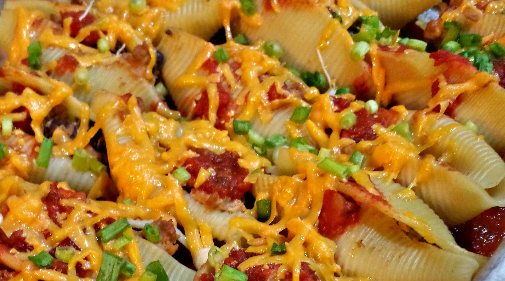 Vegetarian Taco Stuffed Pasta Shells