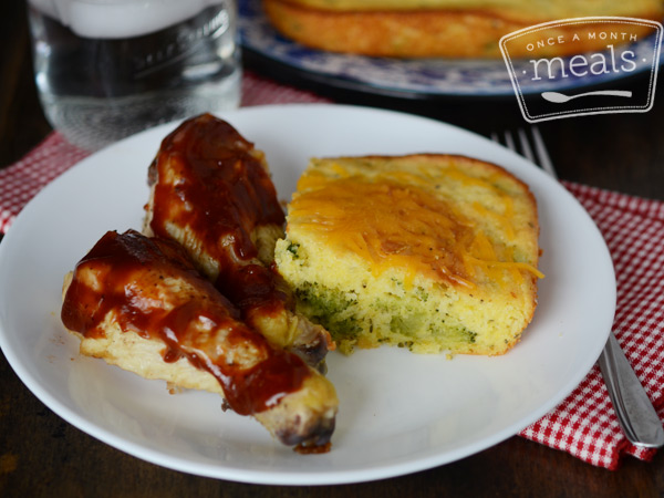 Broccoli Cheese Cornbread | Once A Month Meals