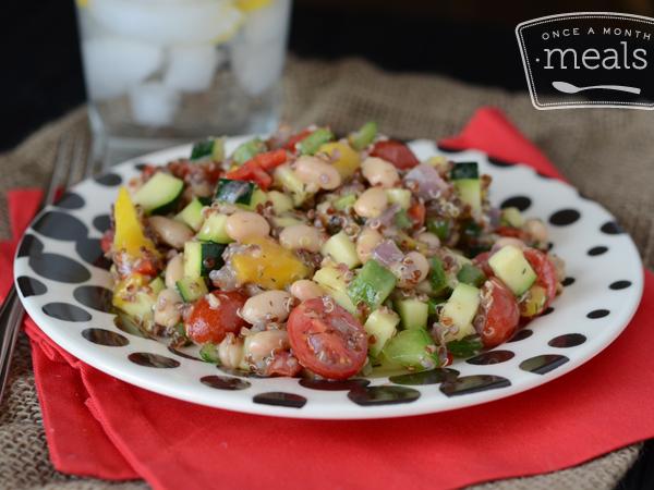 Quinoa Veggie Salad | Once A Month Meals