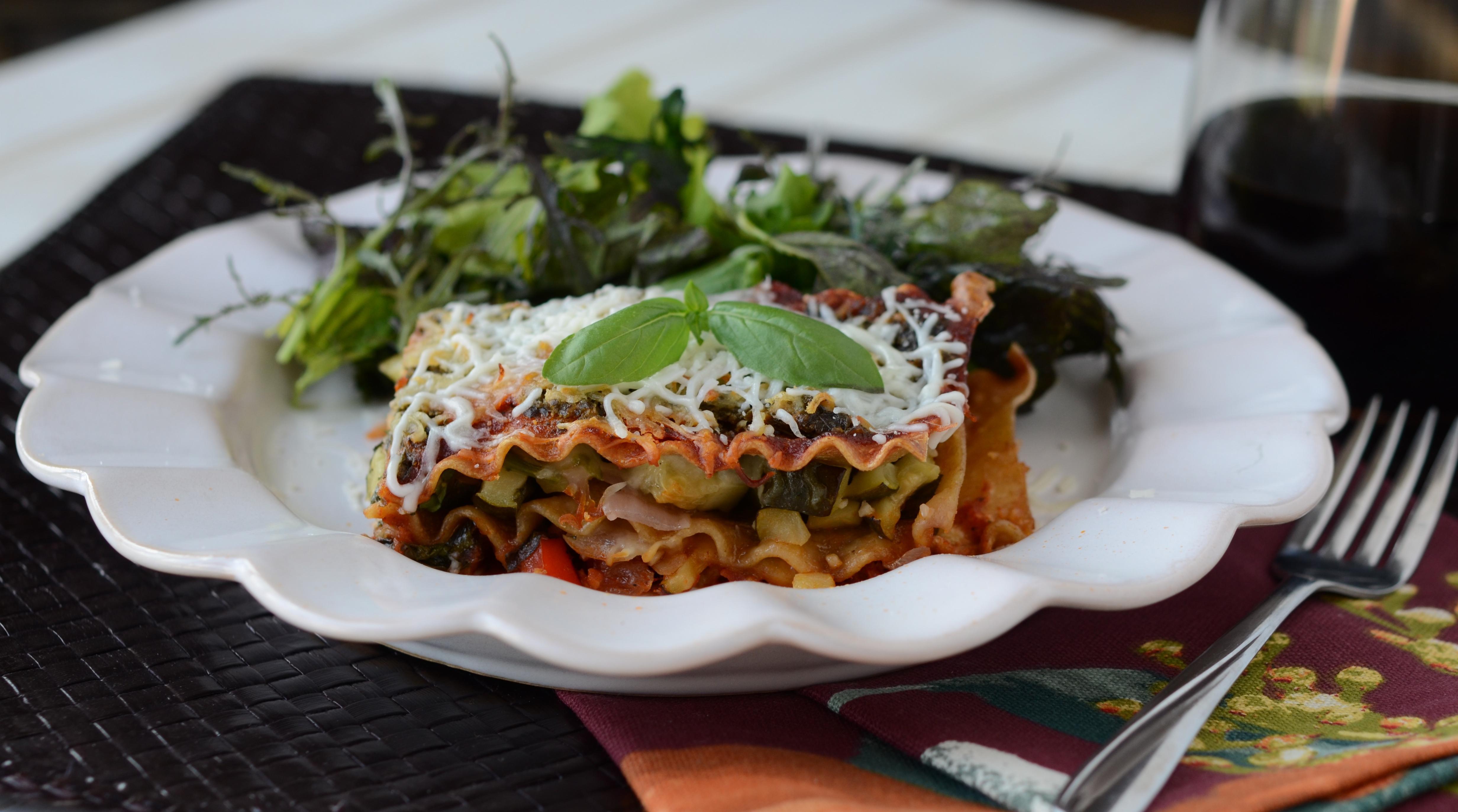 Mediterranean Vegan Lasagna
