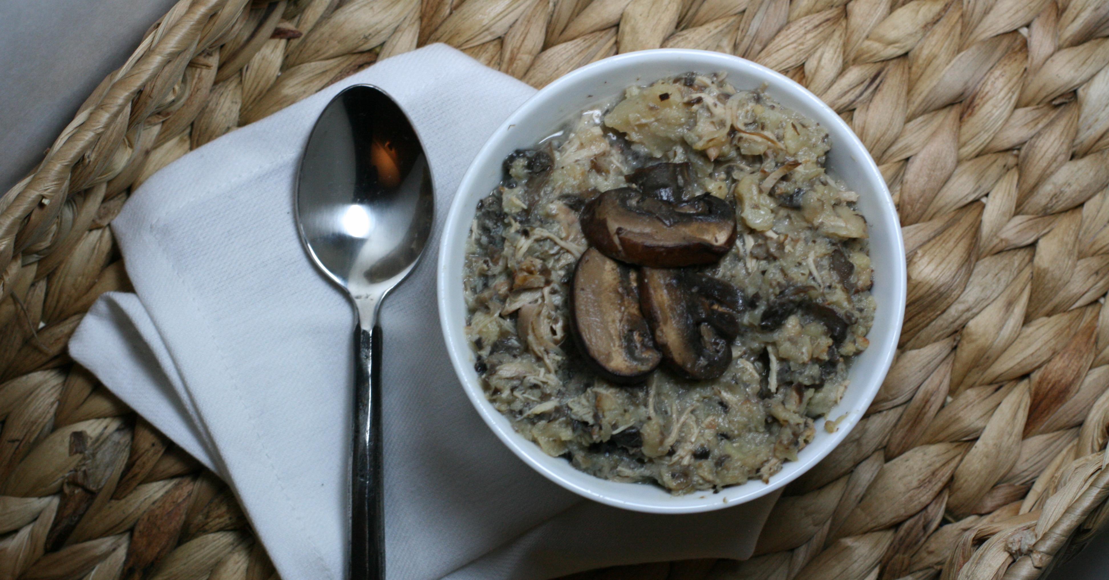 Paleo Creamy Chicken Mushroom Roasted Cauliflower Soup ...