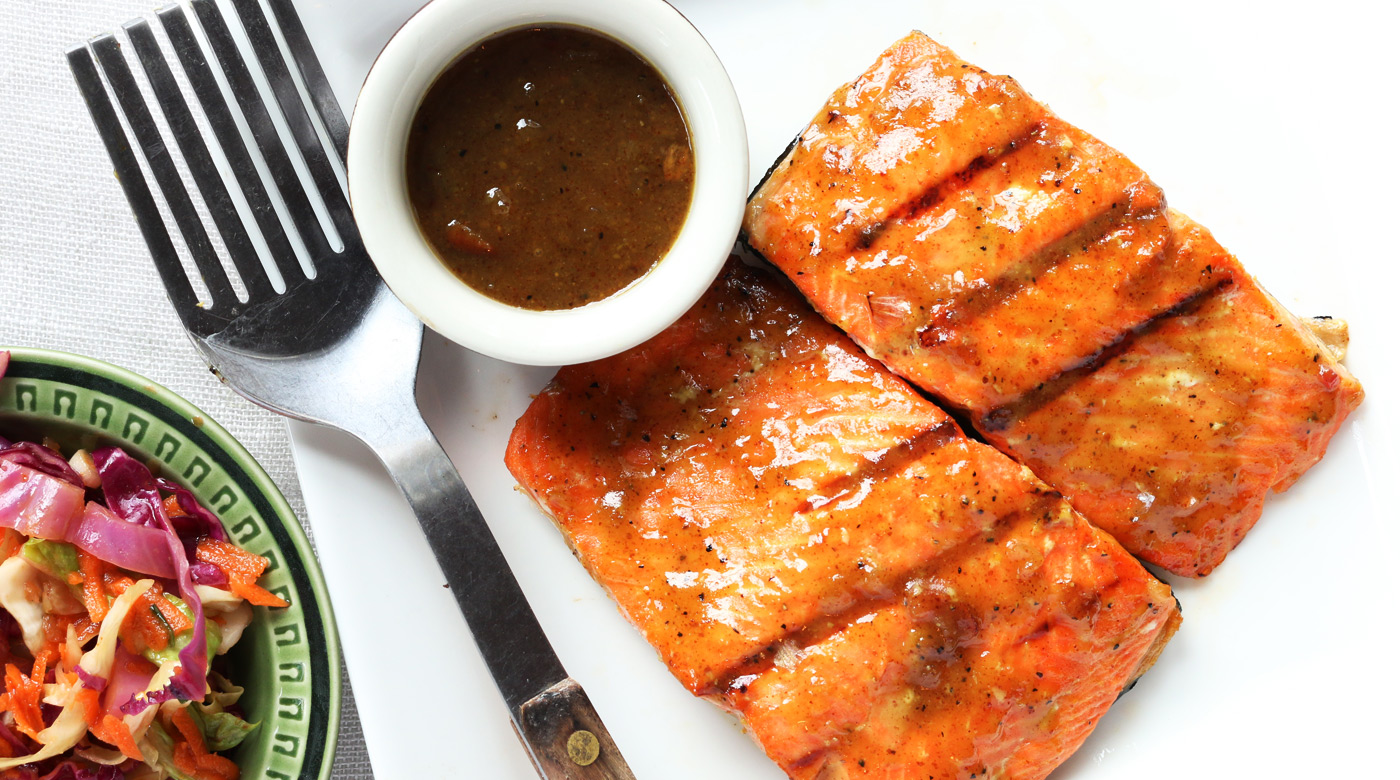 Maple Mustard Grilled Salmon | Once A Month Meals