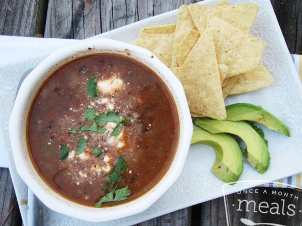 Simple Black Bean Soup – Once A Month Meals
