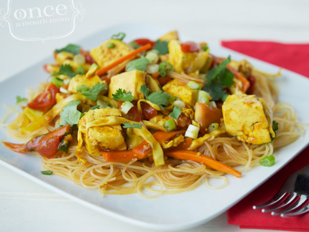 Vegan Singapore Street Noodles