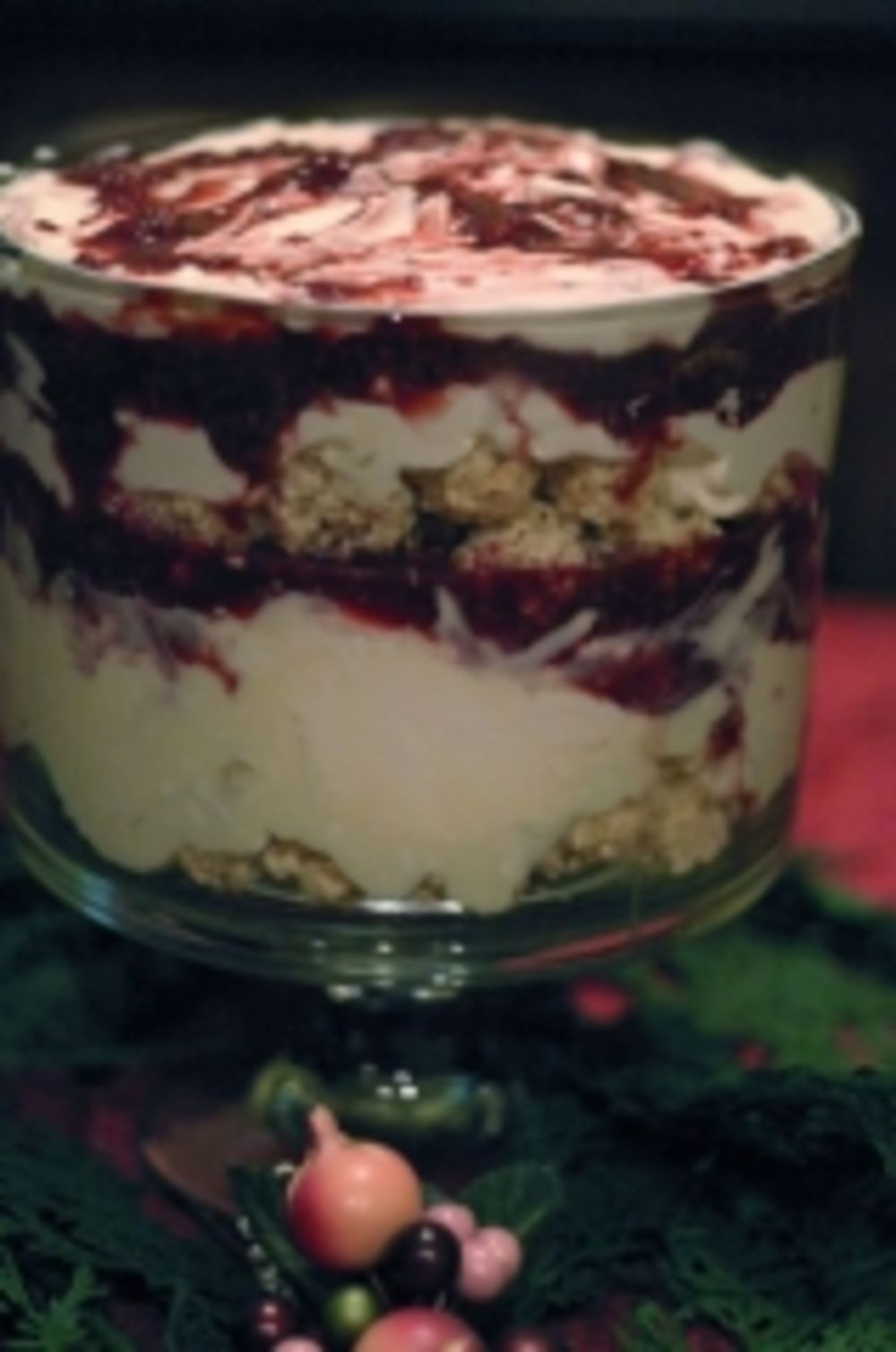 Rice Krispies Raspberry White Chocolate Cream Cheese Trifle