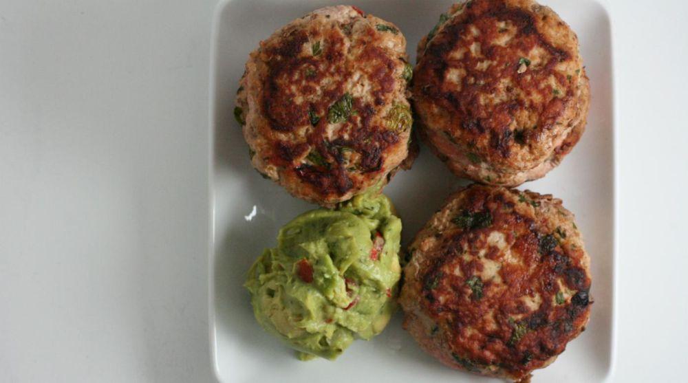 Paleo Jalapeno Chicken Burgers