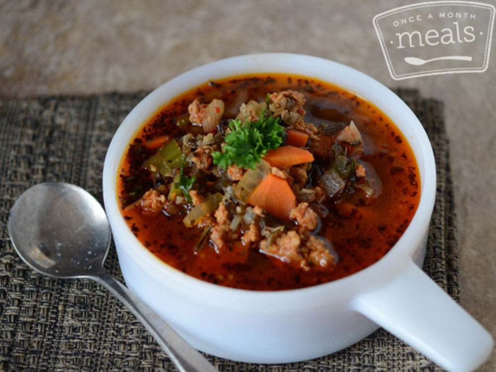 Wild Rice Soup with Sausage and Vegetables