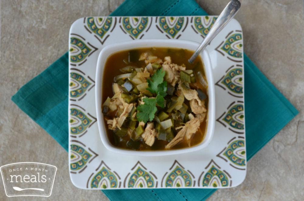 Skinny Chicken Poblano Soup