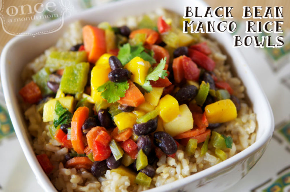 Black Bean Mango Rice Bowl