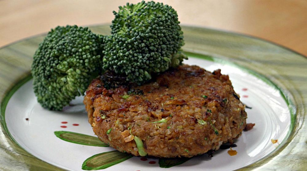 Vegan Chickpea Brown Rice Burgers | Once A Month Meals