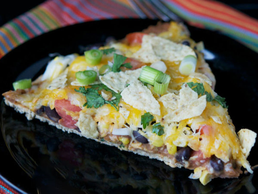 Vegetarian Taco Pizza