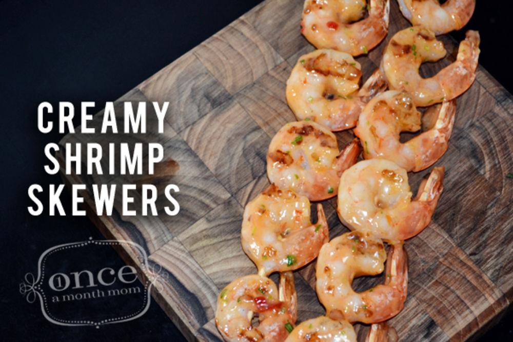 Creamy Shrimp Skewers