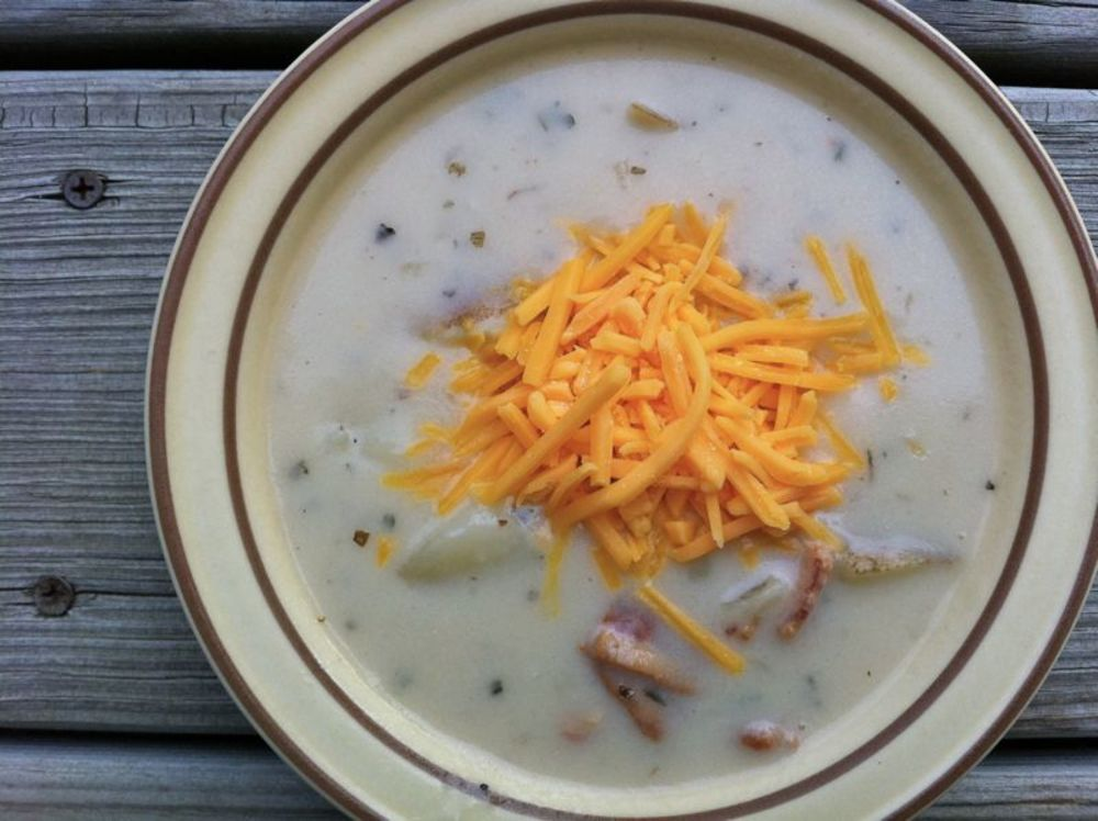 Slow Cooker Potato Soup- Traditional Dinner Version