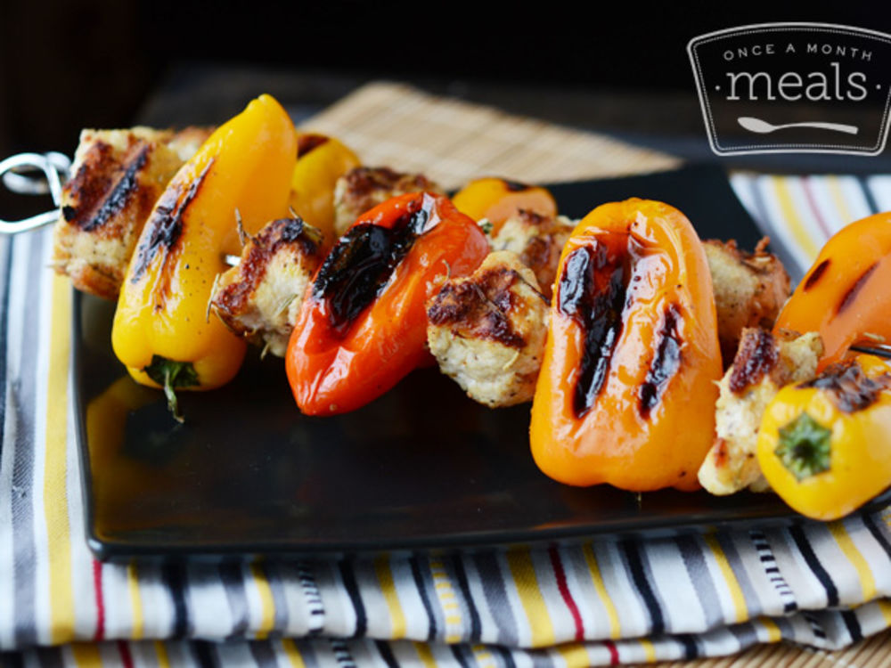 Rosemary Parmesan Chicken and Sweet Peppers