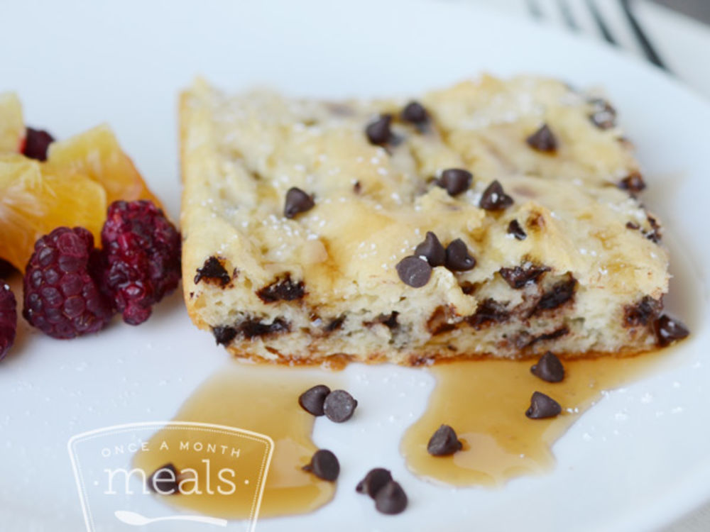 Chocolate Chip Buttermilk Pancake Squares